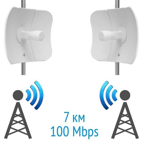 Бездротовий міст 5 GHz на базі 2 x LiteBeam 5AC LBE-5AC-23 Ubiquiti
