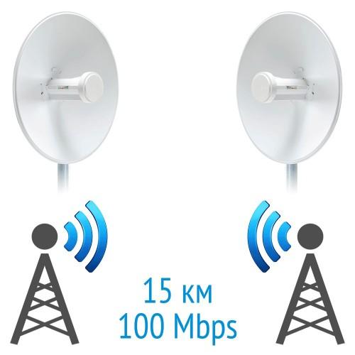 Беспроводной мост 5 GHz на базе 2 x PowerBeam 5AC PBE-5AC-500 Ubiquiti
