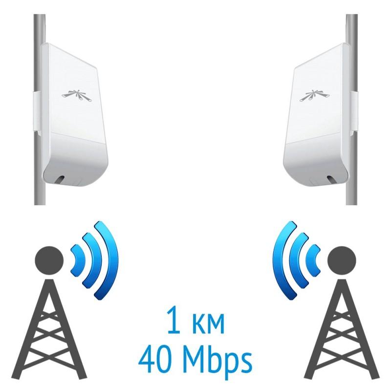 Бездротовий міст 5 GHz на базі 2 x NanoStation Loco M5 Ubiquiti