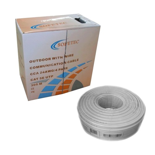 Sofetec UTP Cat5e 4x2x0.5 внутренний ПВХ ал. медь