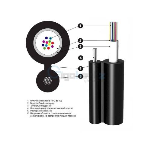 Волоконно-оптичний кабель Южкабель ОЦПТп-12А1 (1х12)-1,5 — ціна за 1 км