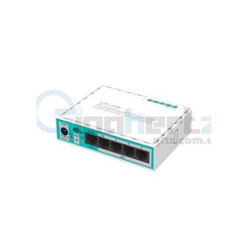 5-портовый маршрутизатор - MikroTik - hEX lite (RB750r2)