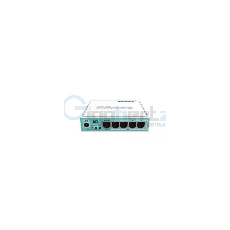 5-портовый маршрутизатор - MikroTik - hEX (RB750Gr3)