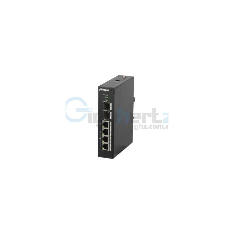 4-портовый управляемый POE коммутатор - Dahua - DH-PFS4206-4P-120
