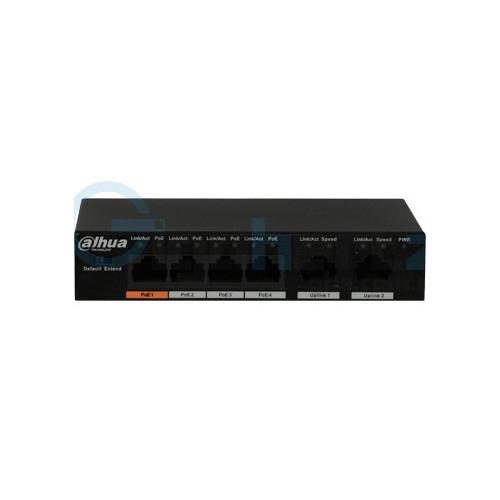 4-портовый РоЕ коммутатор - Dahua - DH-PFS3006-4ET-60