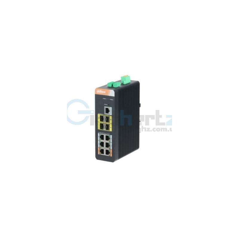 10-портовый управляемый коммутатор с 6 РоЕ портами - Dahua - DH-PFS4410-6GT-DP