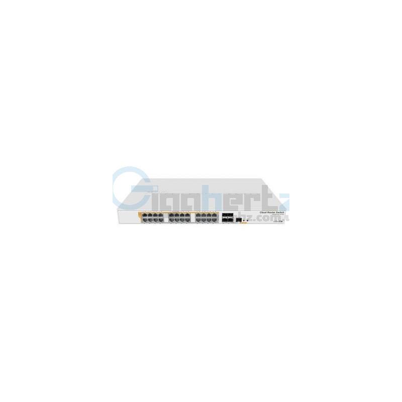 24-портовый управляемый коммутатор - MikroTik - CRS328-24P-4S+RM