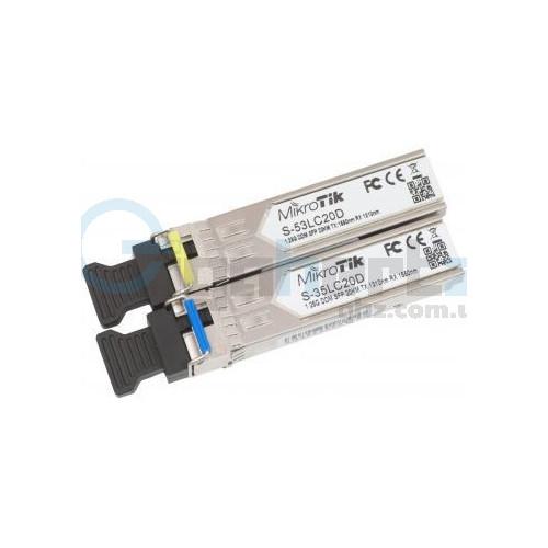 1.25Гб комплект SFP модулей (Rx/Tx) - MikroTik - S-35LC20D (S-3553LC20D)
