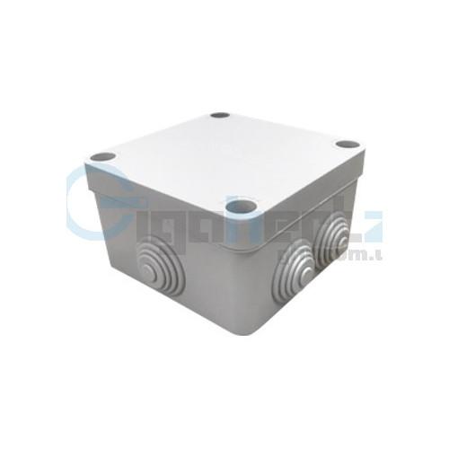 Коробка распределительная с кабель-вводами - COURBI 100x100x50 серая