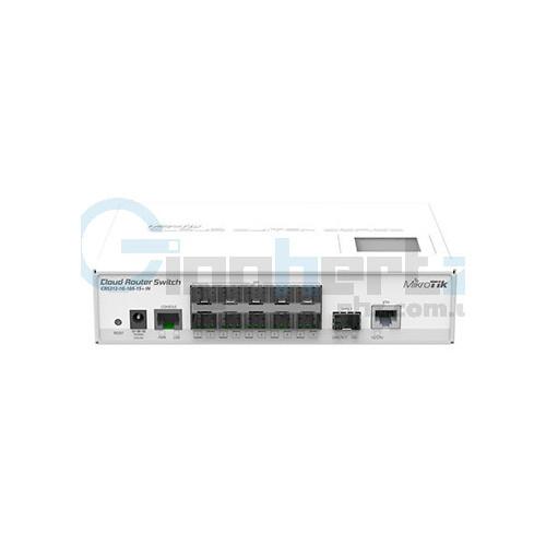 10-портовый управляемый Cloud коммутатор - MikroTik - CRS212-1G-10S-1S+IN