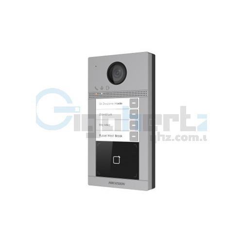2 Мп IP вызывная панель на 4 абонента c ИК подсветкой и Wi-Fi - Hikvision - DS-KV8413-WME1/Flush