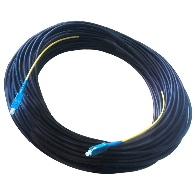 Патч-корд наружный для FTTH-сетей, 100 м, SC/UPC-SC/UPC, диэлектрик (ADSS, LSZH PE, G.657.A)
